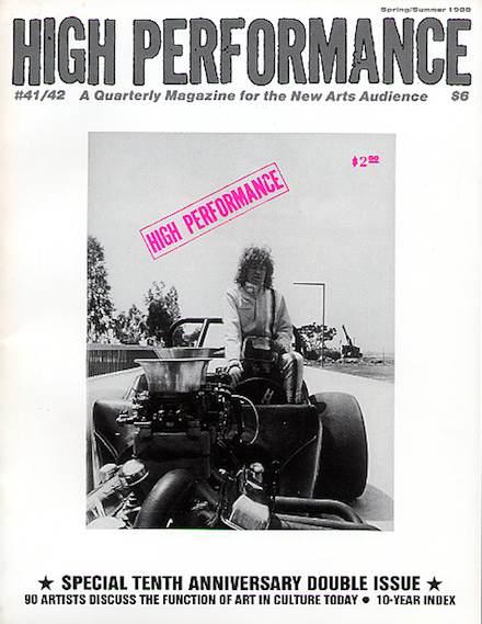 High Performance #41/2 Vol. XI, Nos. 1/2, 1988
