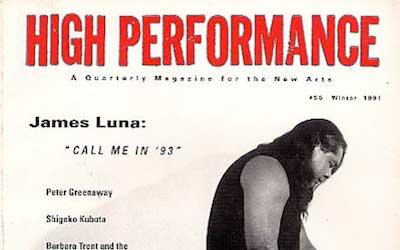 High Performance #56 Vol. XIV, No. 4, 1991