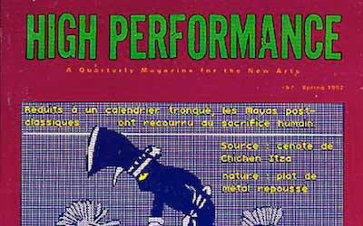 High Performance #57 Vol. XV, No. 1, 1992