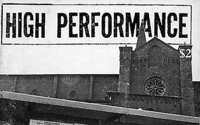 High Performance #10 Vol. III, No. 2, 1980