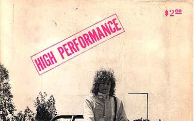 High Performance #1 Vol. I, No. 1, 1978