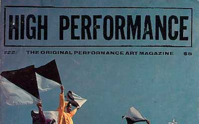 High Performance #22 Vol. VI, No. 2, 1983