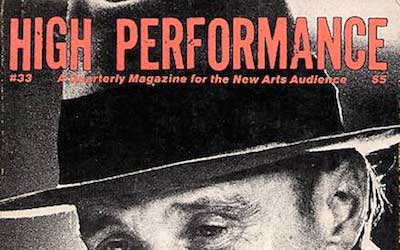High Performance #33 Vol. IX, No. 1, 1986