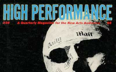 High Performance #36 Vol. IX, No. 4, 1986