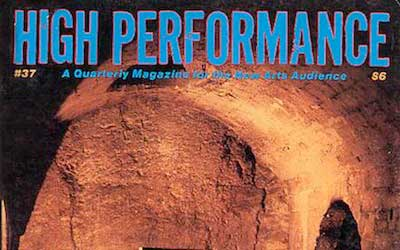 High Performance #37 Vol. X, No. 1, 1987