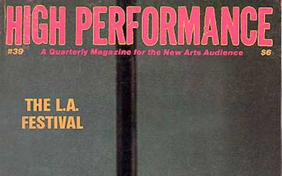 High Performance #39 Vol. X, No. 3, 1987
