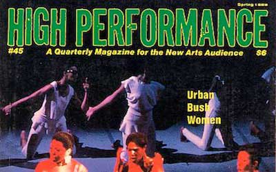 High Performance #48 Vol. XII, No. 4, 1989