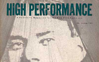 High Performance #46 Vol. XII, No. 2, 1989