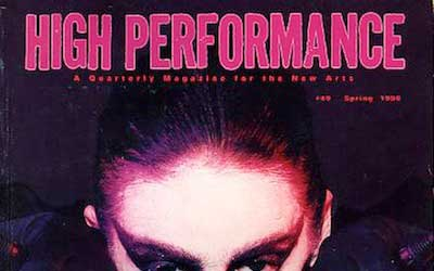High Performance #49 Vol. XIII, No. 1, 1990