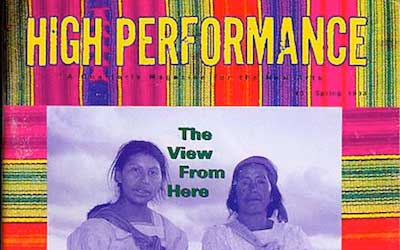 High Performance #61 Vol. XVI, No. 1, 1993