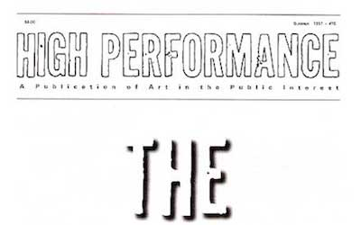 High Performance #76 Vol. XX, No. 2, 1997